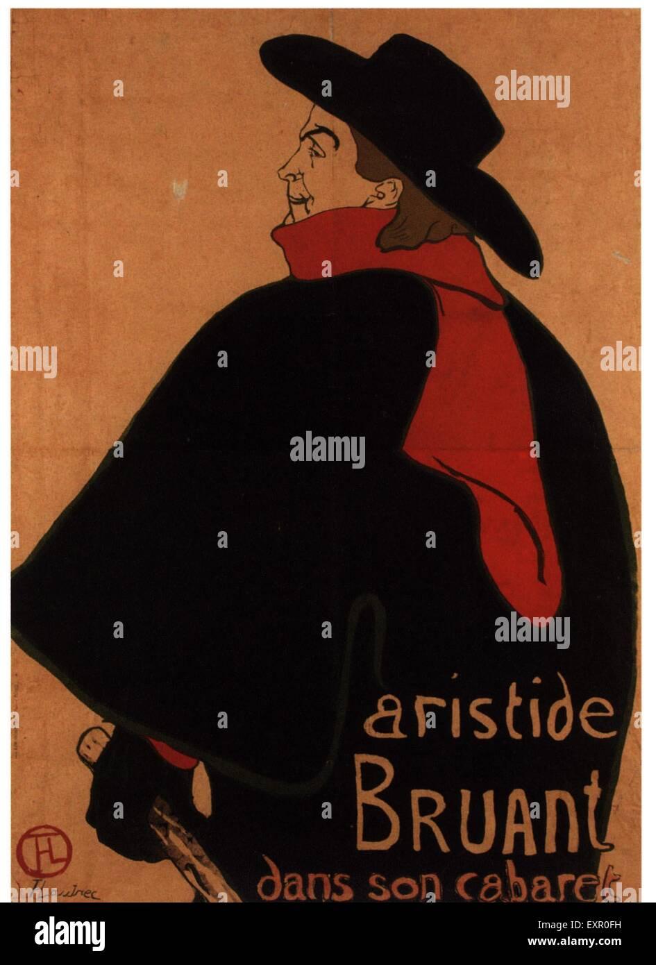 1890s France Cabaret Poster - Stock Image