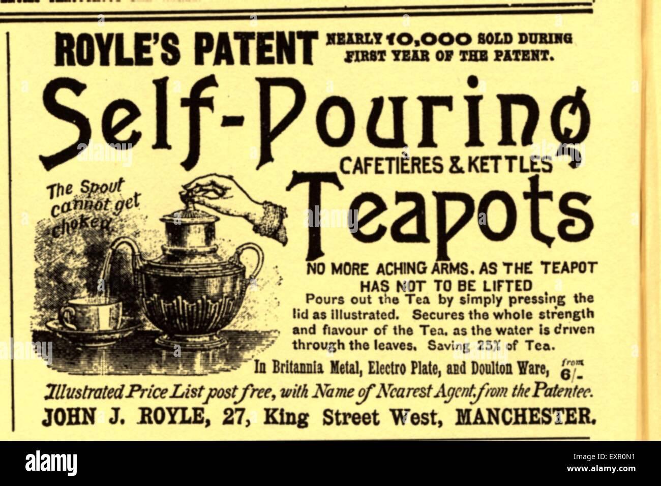 Victorian Advert Tea Stock Photos Amp Victorian Advert Tea