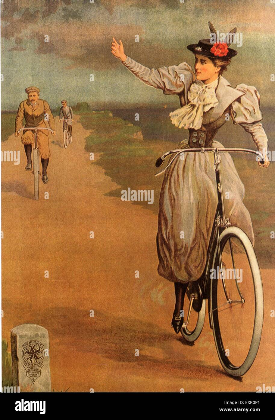 1890s UK Bicycles Poster - Stock Image