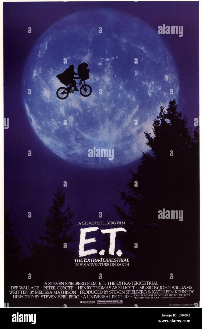 1980s USA ET Film Poster - Stock Image