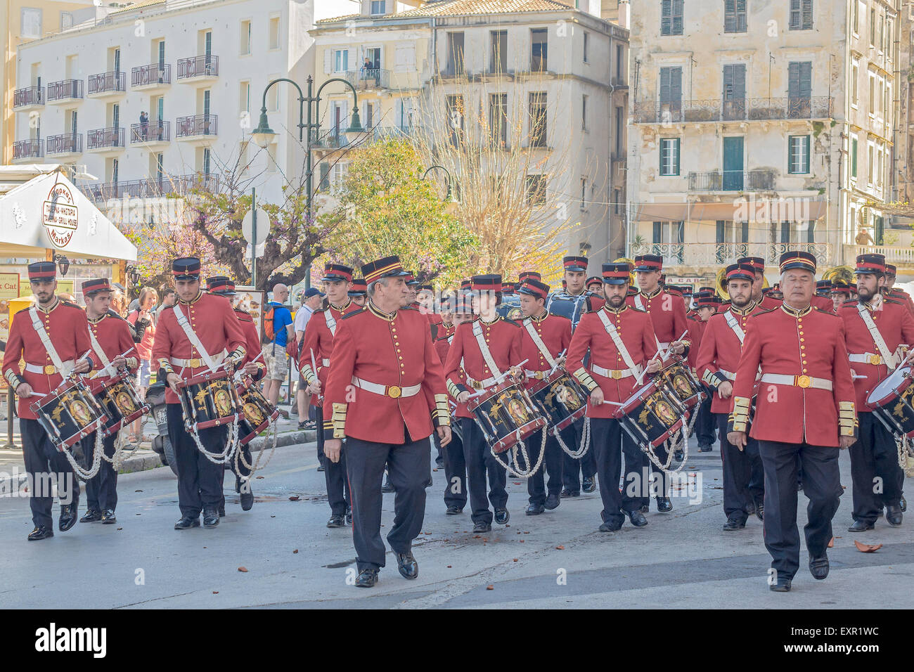 A Marching Band Corfu Ionian Islands Greece - Stock Image