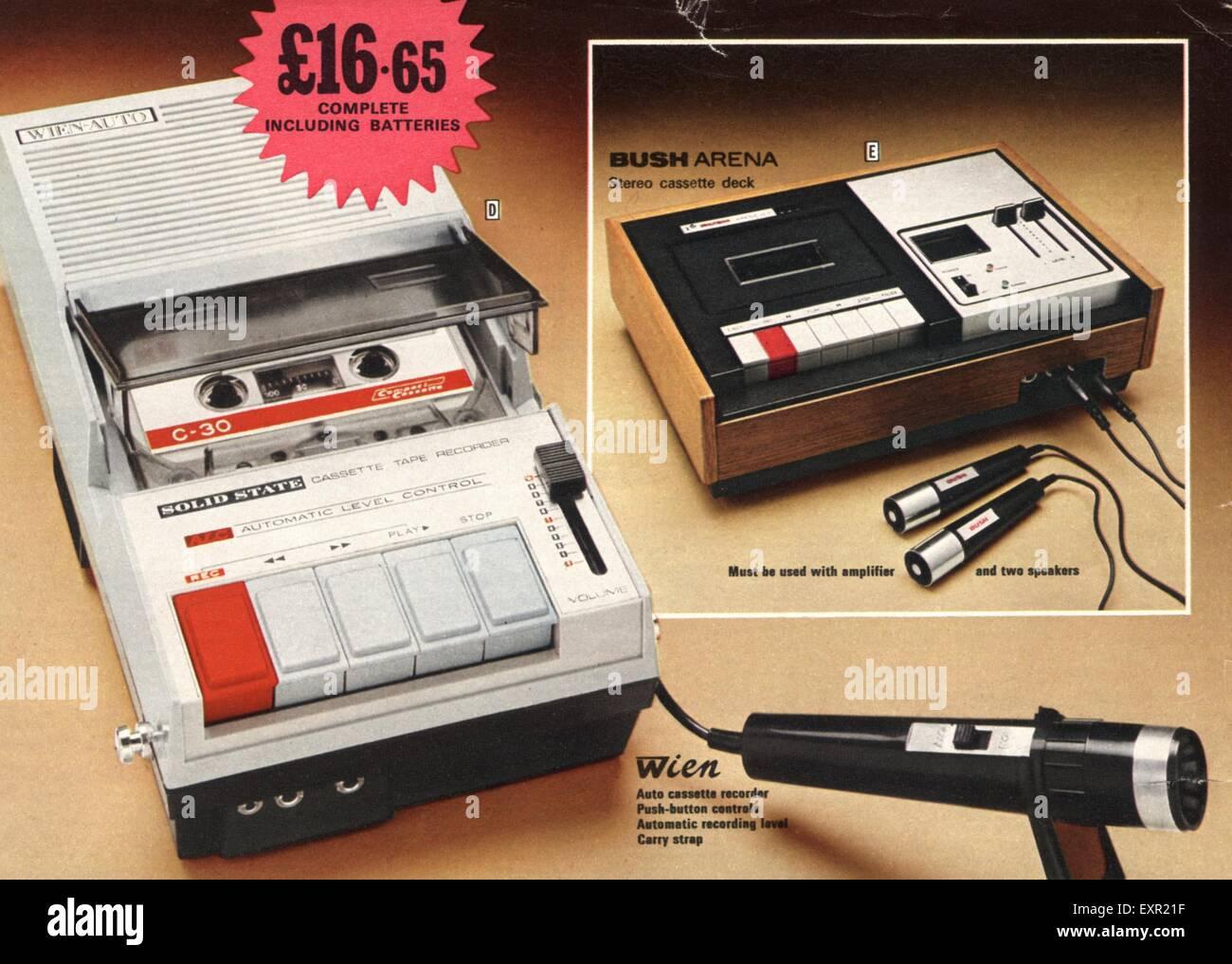 1970s UK Hi-fi Cassettes Catalogue/ Brochure Plate Stock Photo