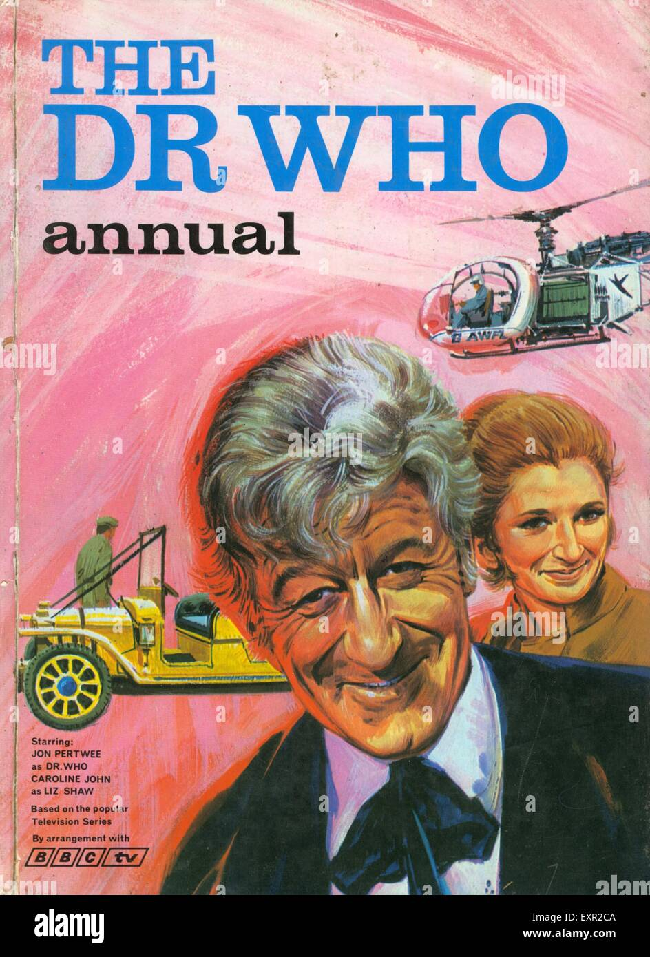 1970s UK Dr Who Comic/ Annual Cover - Stock Image