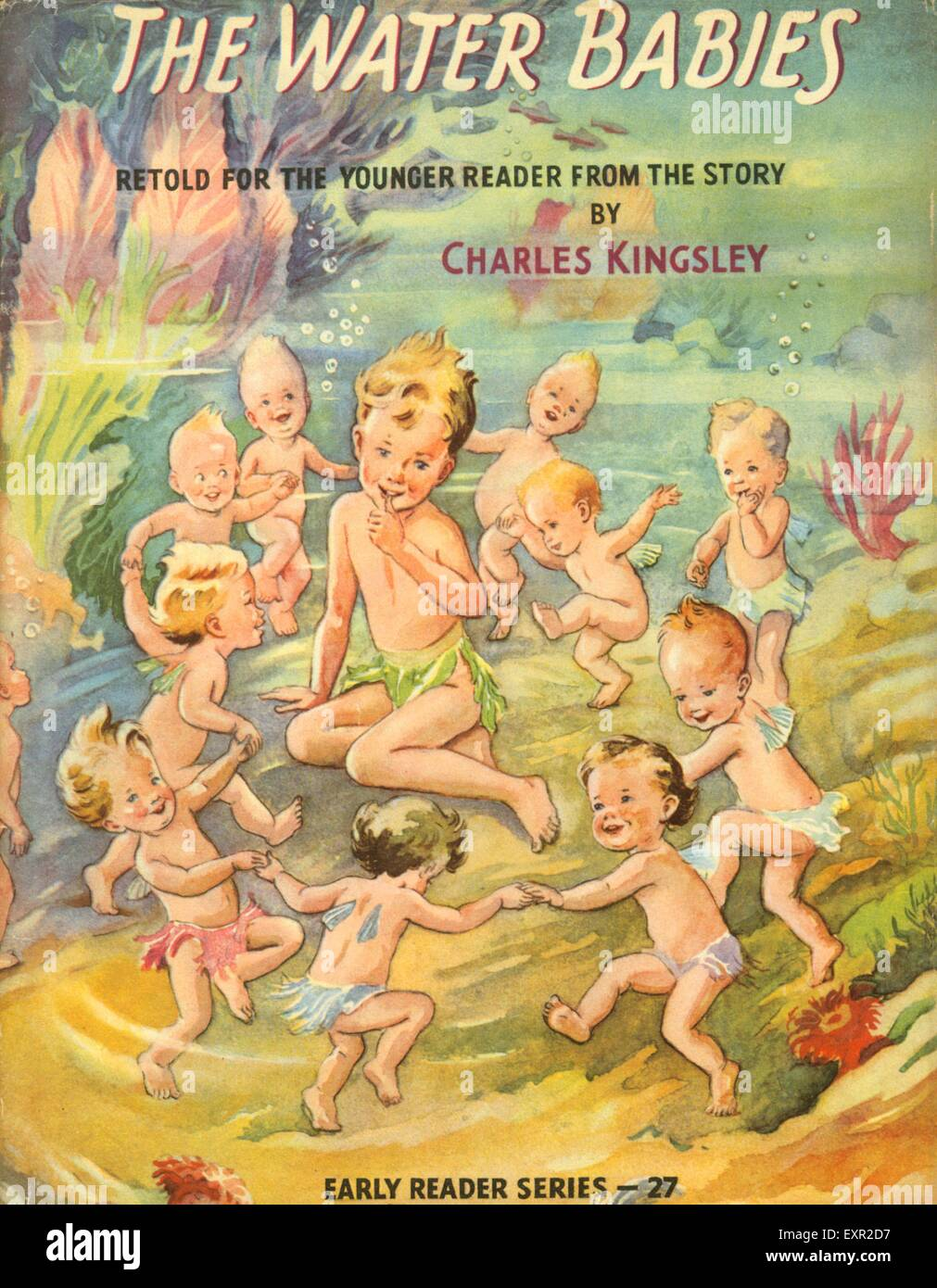 1950s UK The Water Babies by Charles Kingsley Book Cover - Stock Image