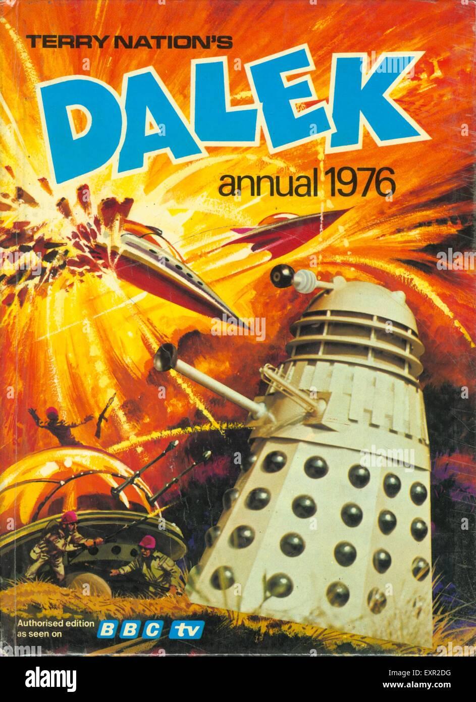 1970s UK Daleks Comic/ Annual Cover - Stock Image