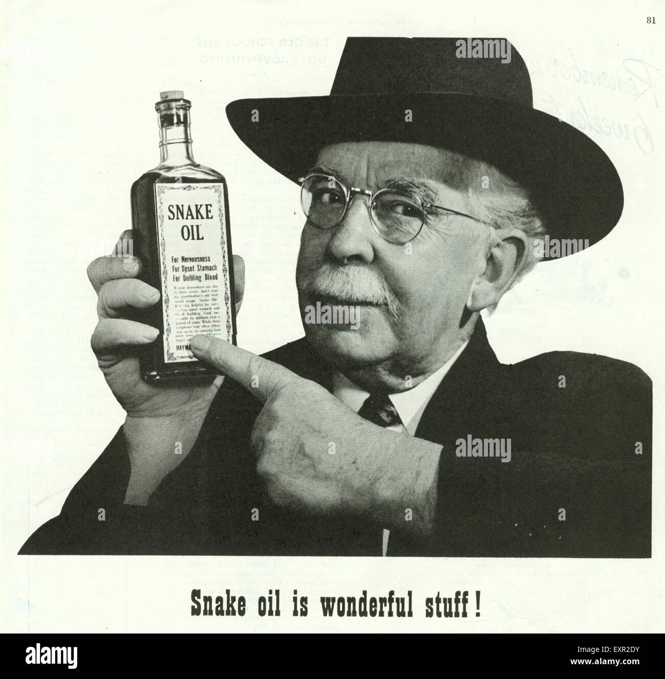 Snake Oil Salesman High Resolution Stock Photography and Images - Alamy