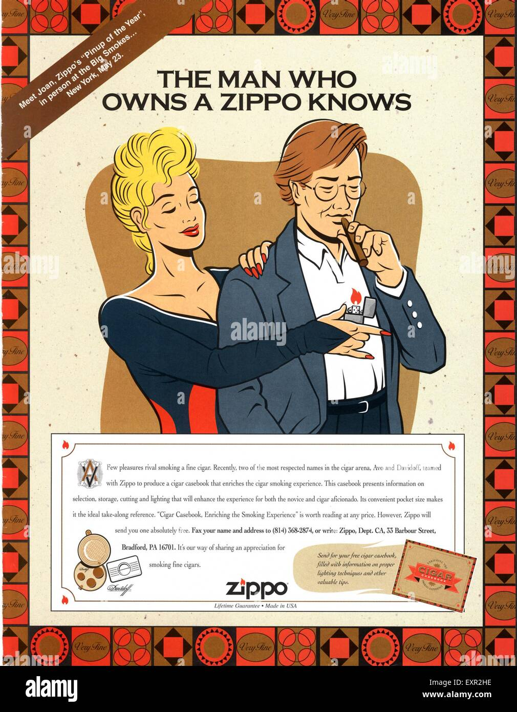 1990s usa zippo magazine advert stock photo 85329482 alamy