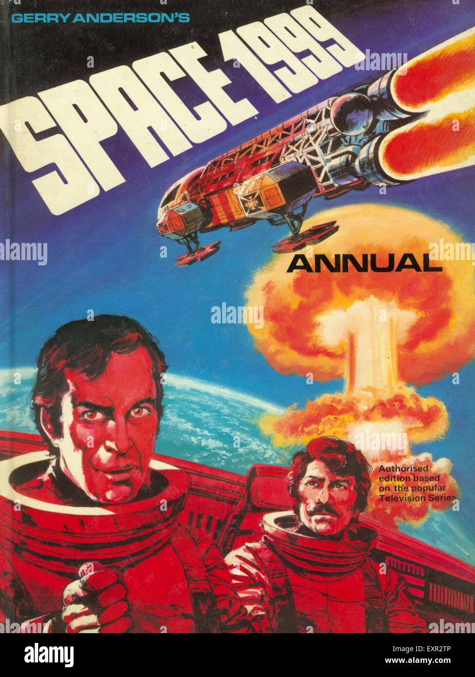 1970s UK Space 1999 Comic/ Annual Cover - Stock Image
