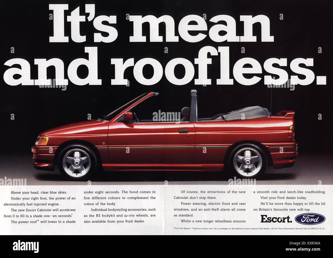 1990s Uk Ford Magazine Advert Stock Photo Alamy