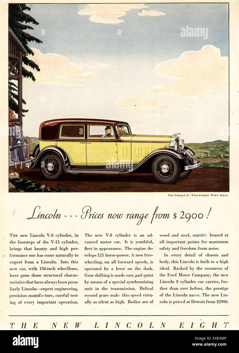 1930s Usa Lincoln Magazine Advert Stock Photo 85330358 Alamy