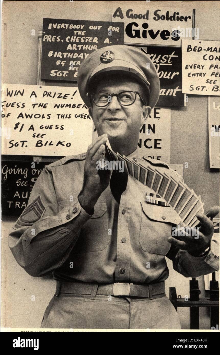 1950s USA Phil Silvers as Sgt Bilko Magazine Plate - Stock Image