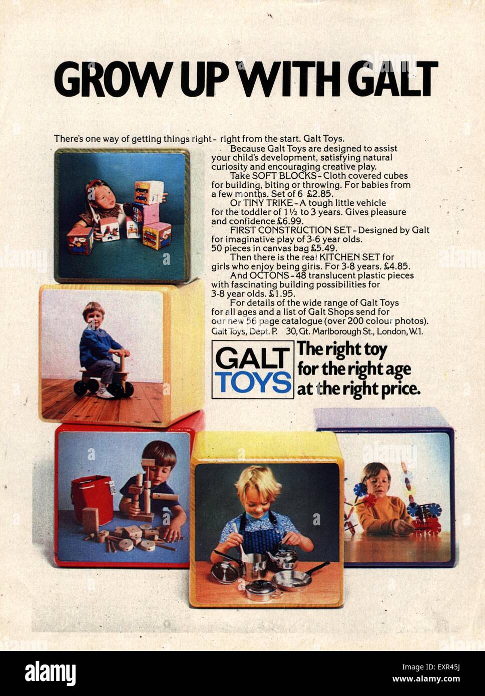 1960s UK Galt Magazine Advert - Stock Image
