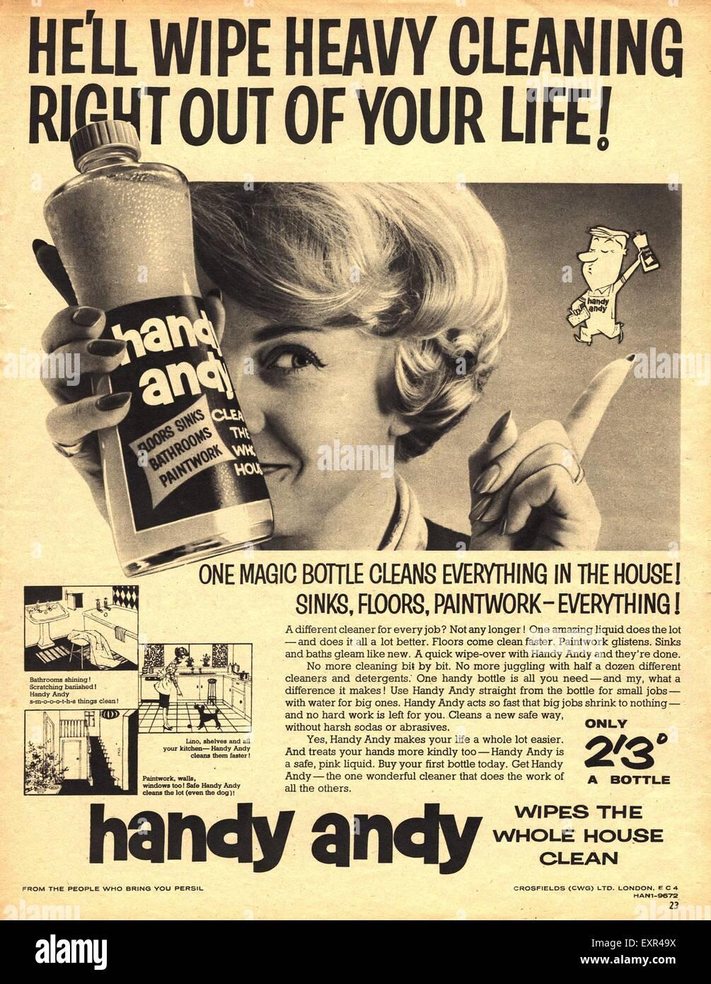 1950s UK Handy Andy Magazine Advert - Stock Image