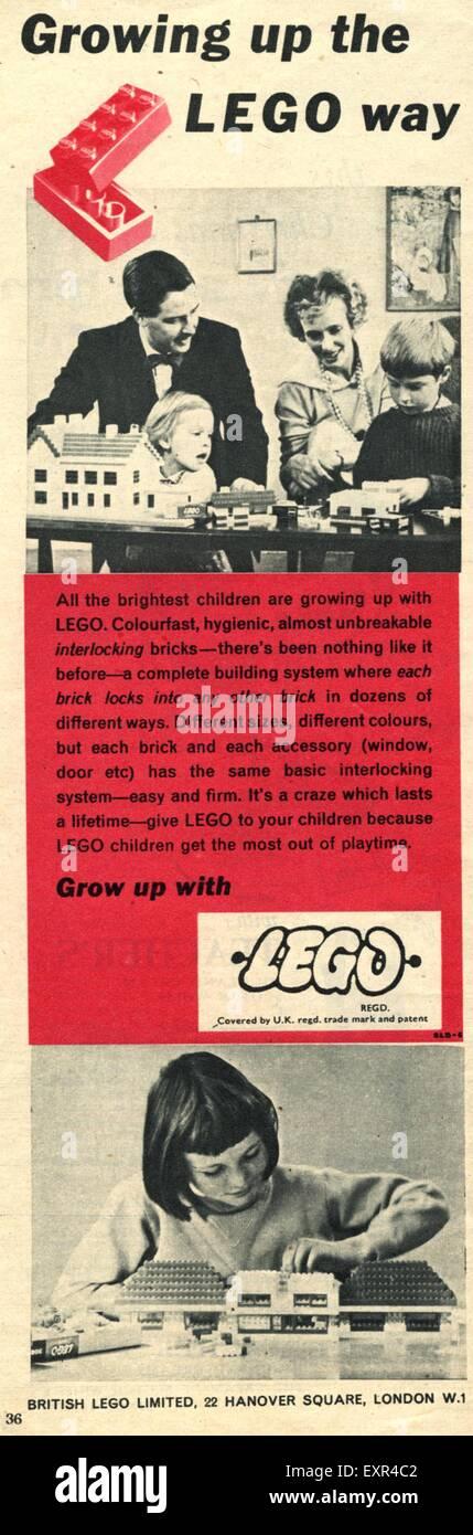 1950s UK Lego Magazine Advert - Stock Image