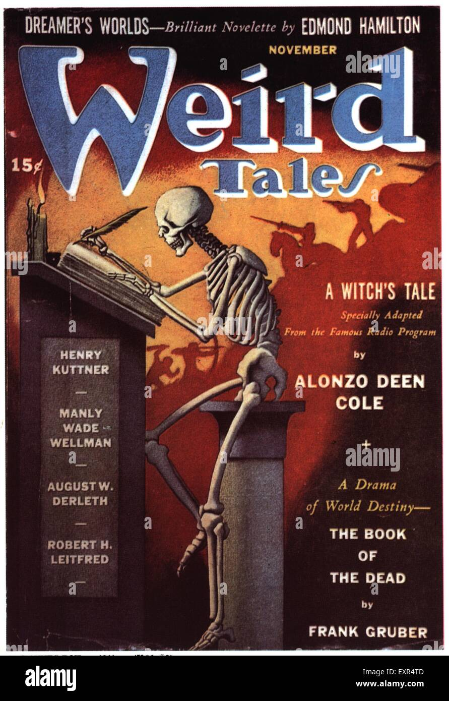 1930s USA Weird Tales Magazine Cover Stock Photo