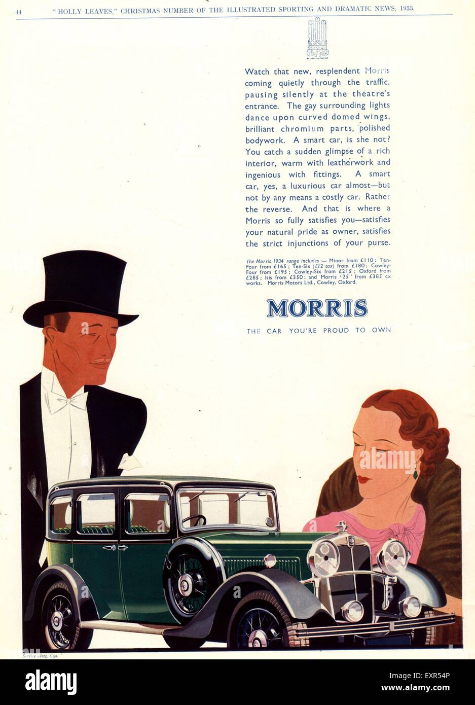 1930s UK Morris Cars Magazine Advert Stock Photo: 85331478 - Alamy