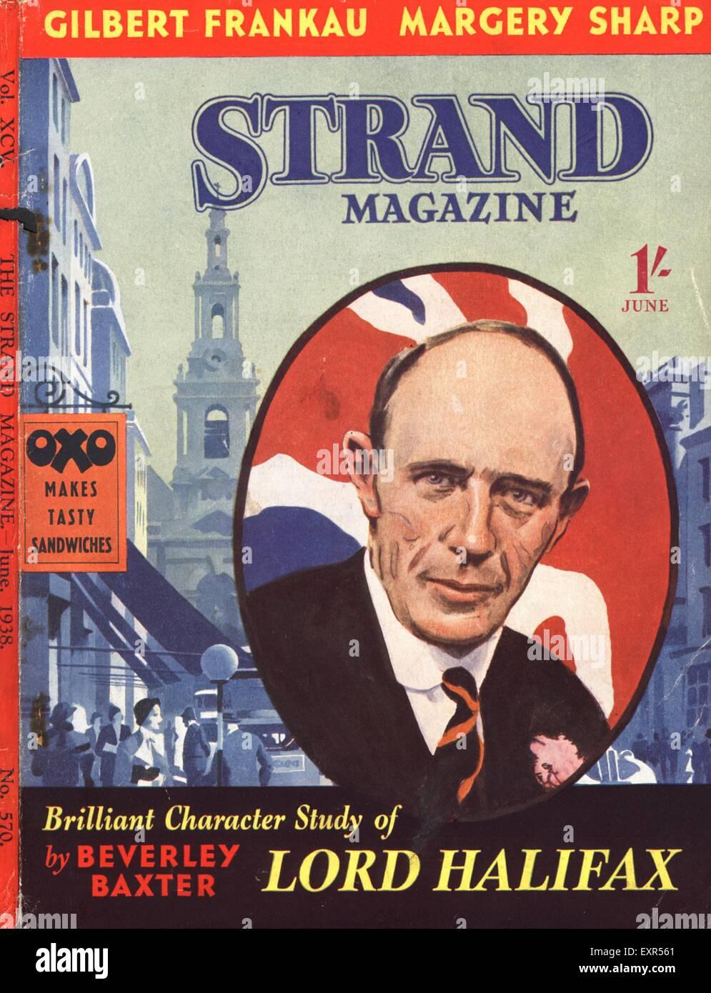 1930s UK The Strand Magazine Cover - Stock Image