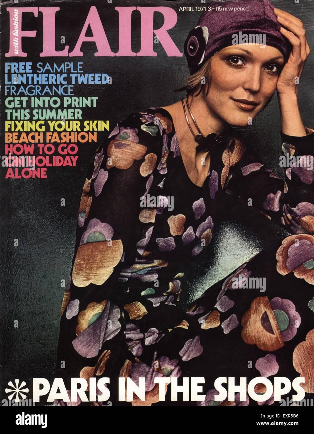 1970s UK Flair Magazine Cover - Stock Image