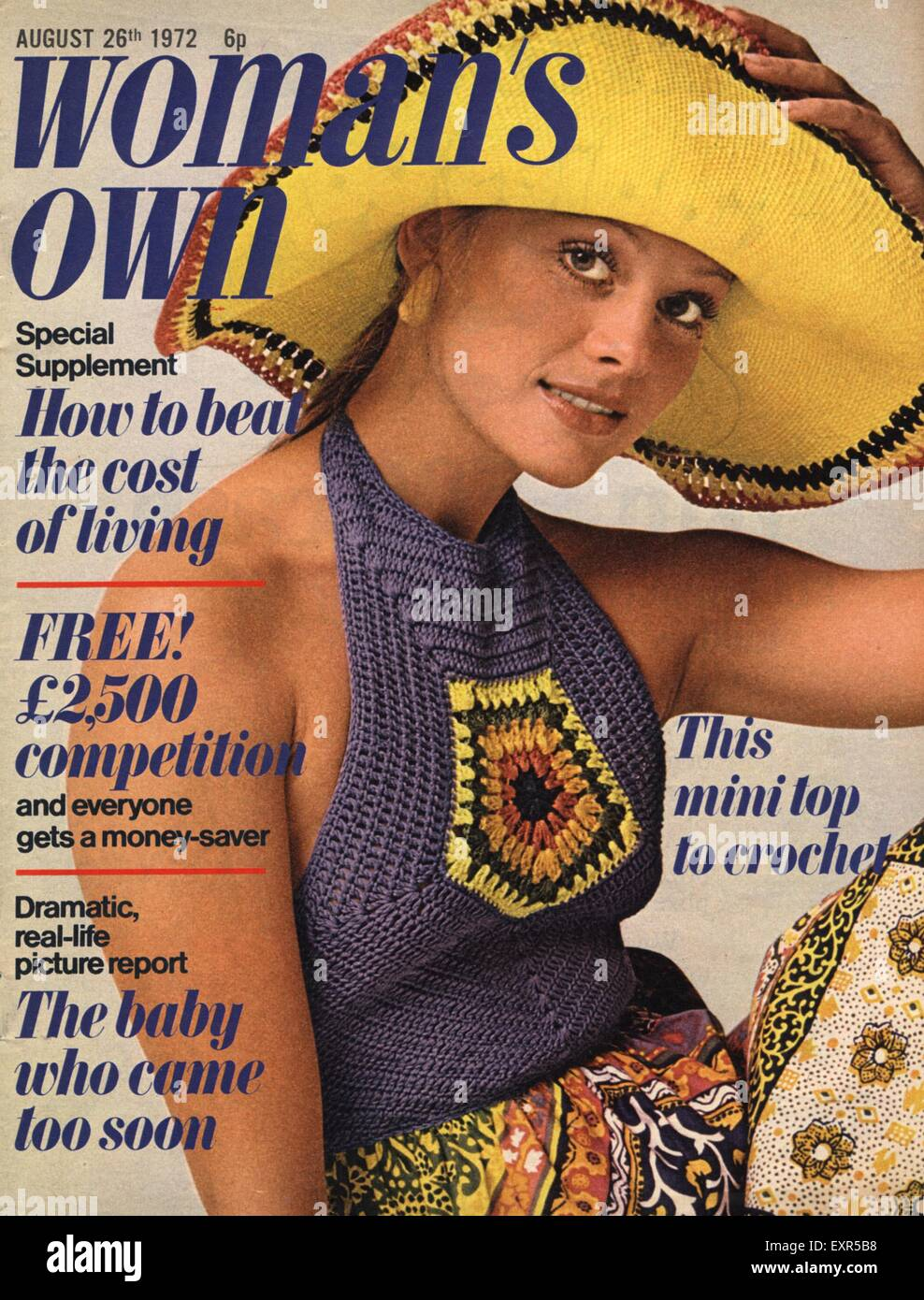 1970s UK Womans Own Magazine Cover - Stock Image