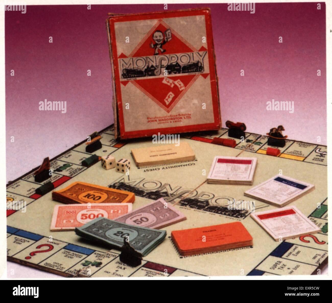 1970s UK Monopoly Promotional - Stock Image