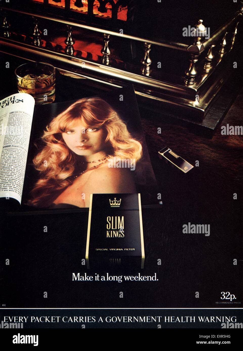 1980s UK Slim Kings Magazine Advert - Stock Image