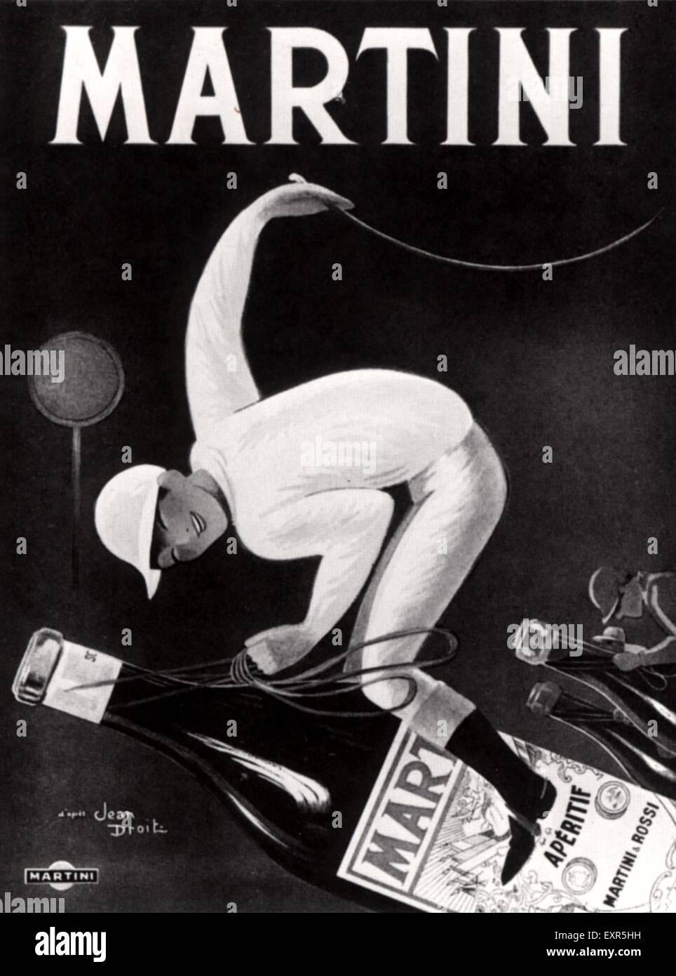 1910s France Martini Poster - Stock Image