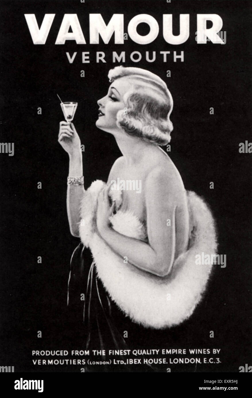 1920s UK Vamour Poster - Stock Image