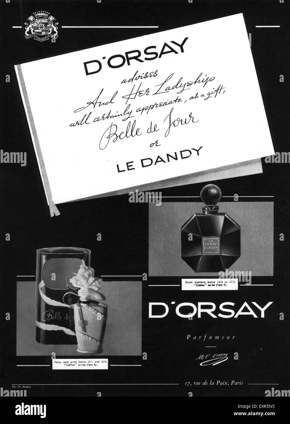 1930s UK D'Orsay Magazine Advert - Stock Image