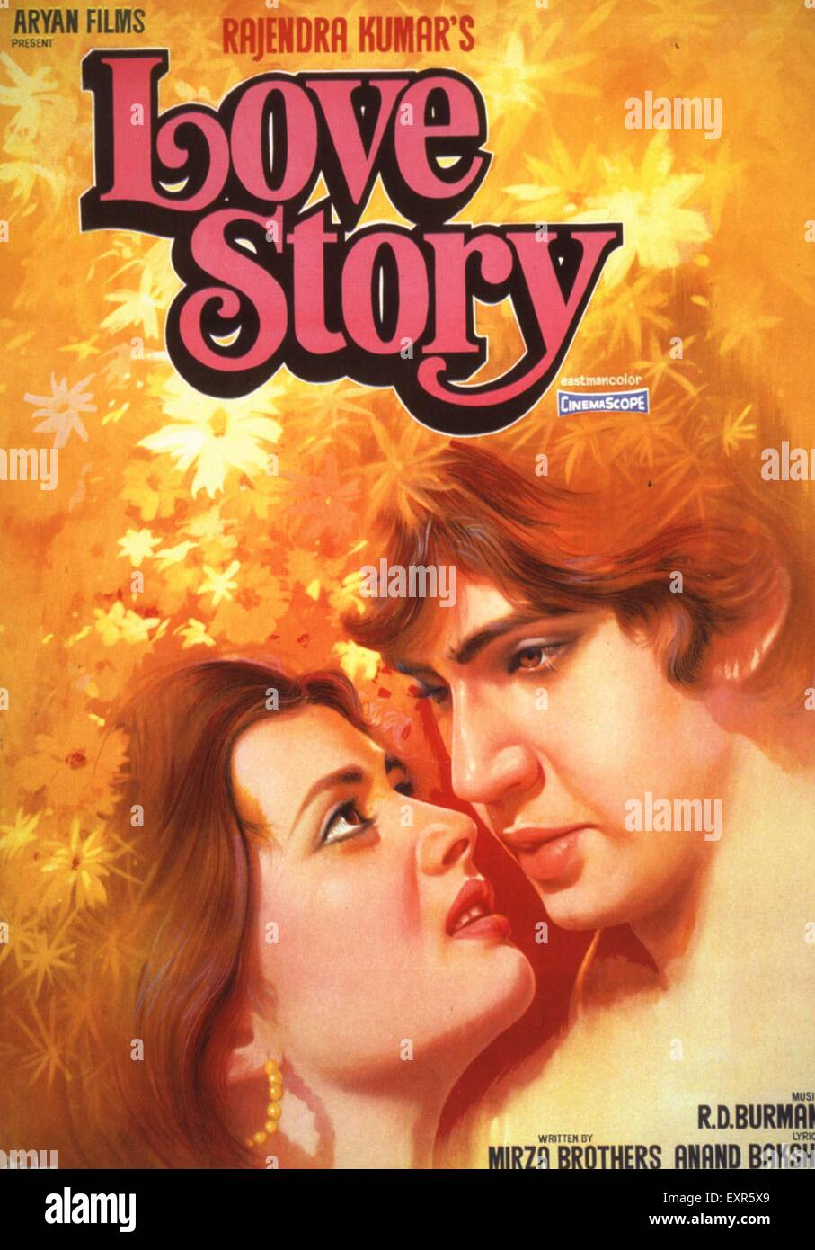 1980s India Love Story Film Poster - Stock Image