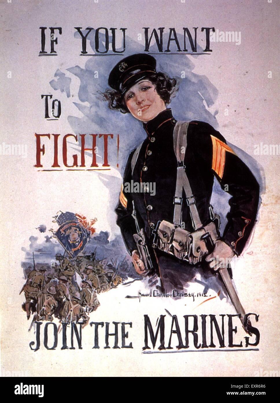 1910s USA Women at War Poster - Stock Image