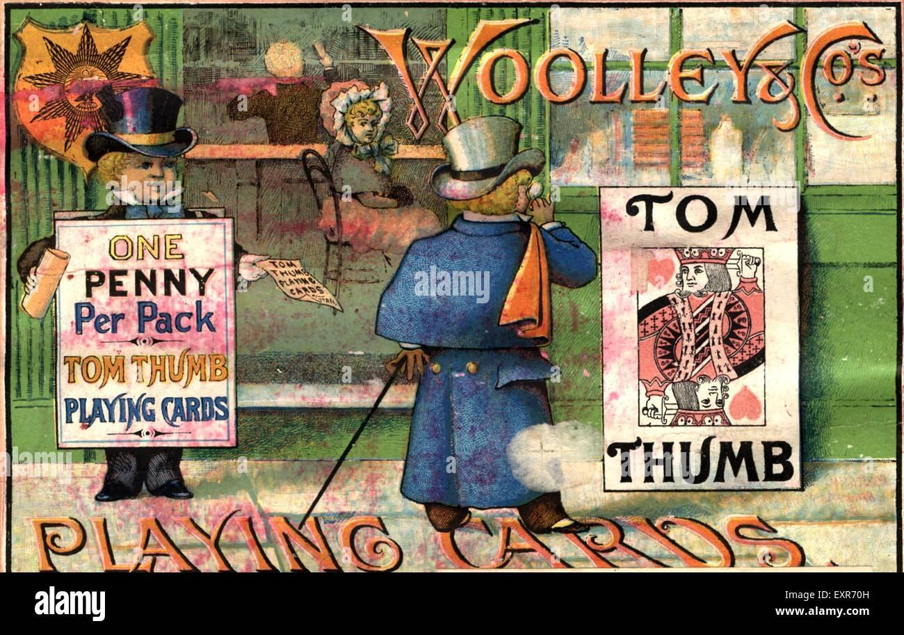1890s UK Tom Thumb Magazine Advert - Stock Image