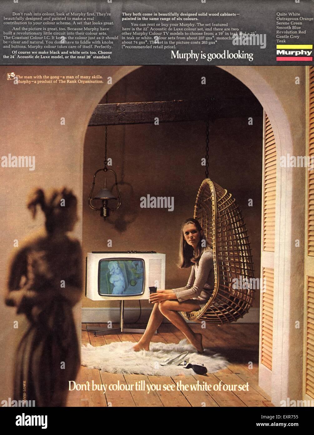 1970s UK Murphy Magazine Advert - Stock Image