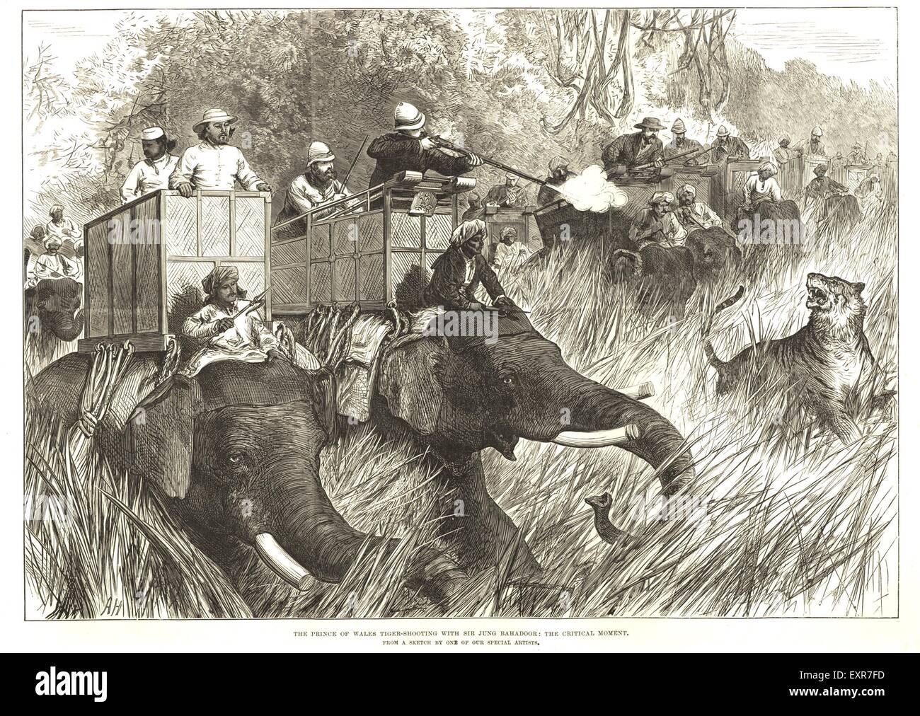 1890s UK Last Days Of The Raj Empire Magazine Plate - Stock Image