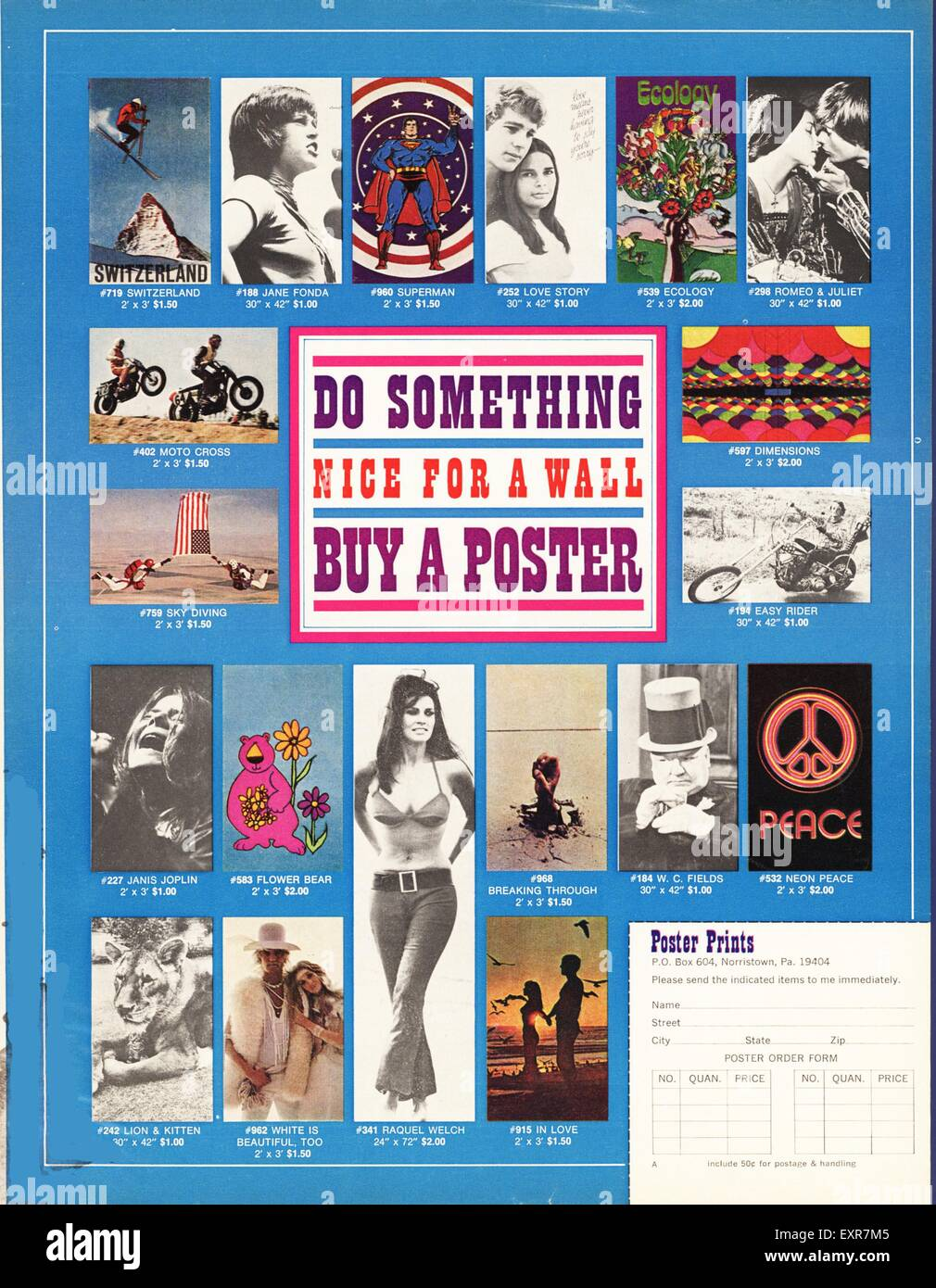 1960s USA Posters Poster - Stock Image