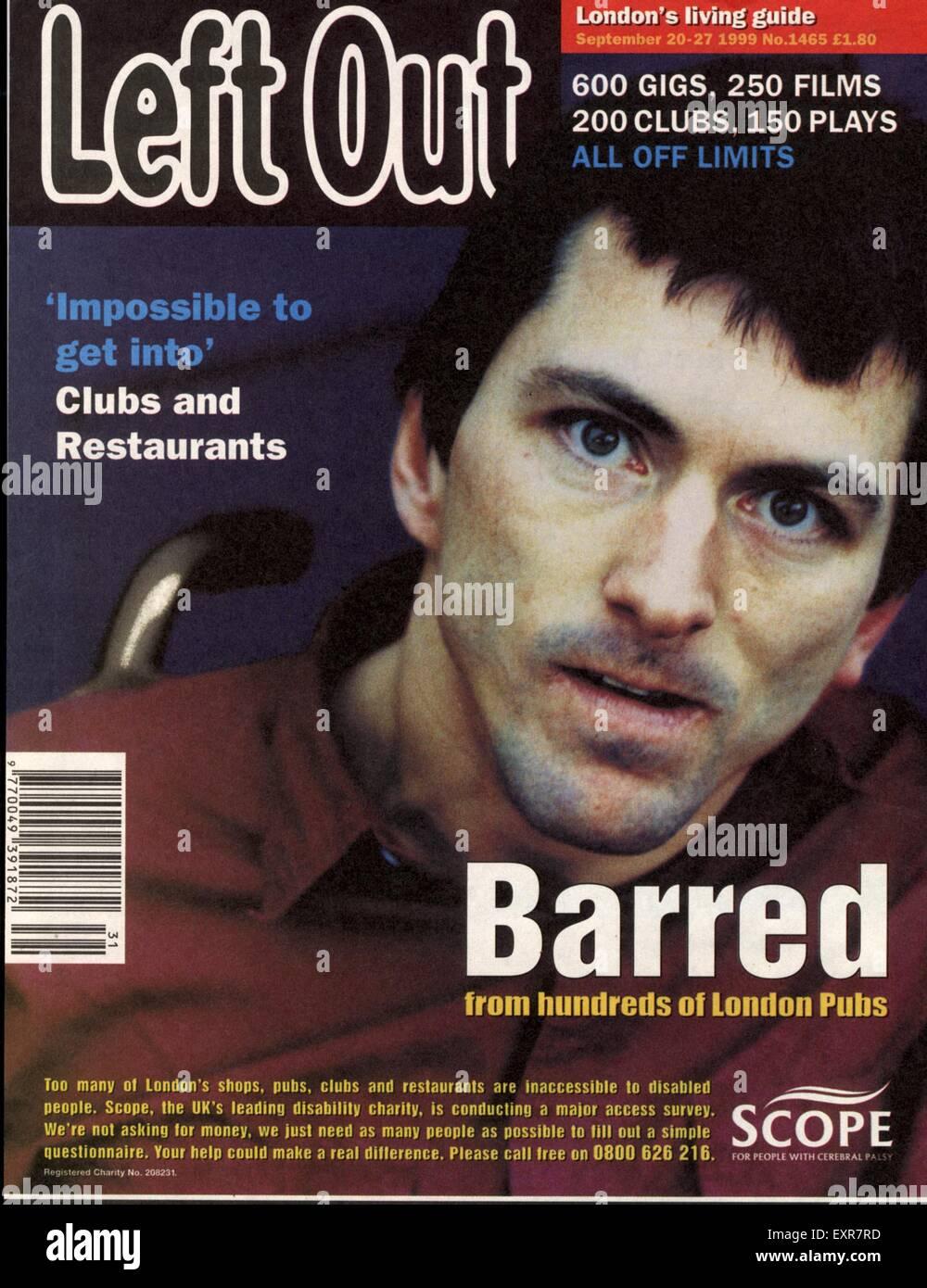 1990s UK Scope Magazine Advert - Stock Image