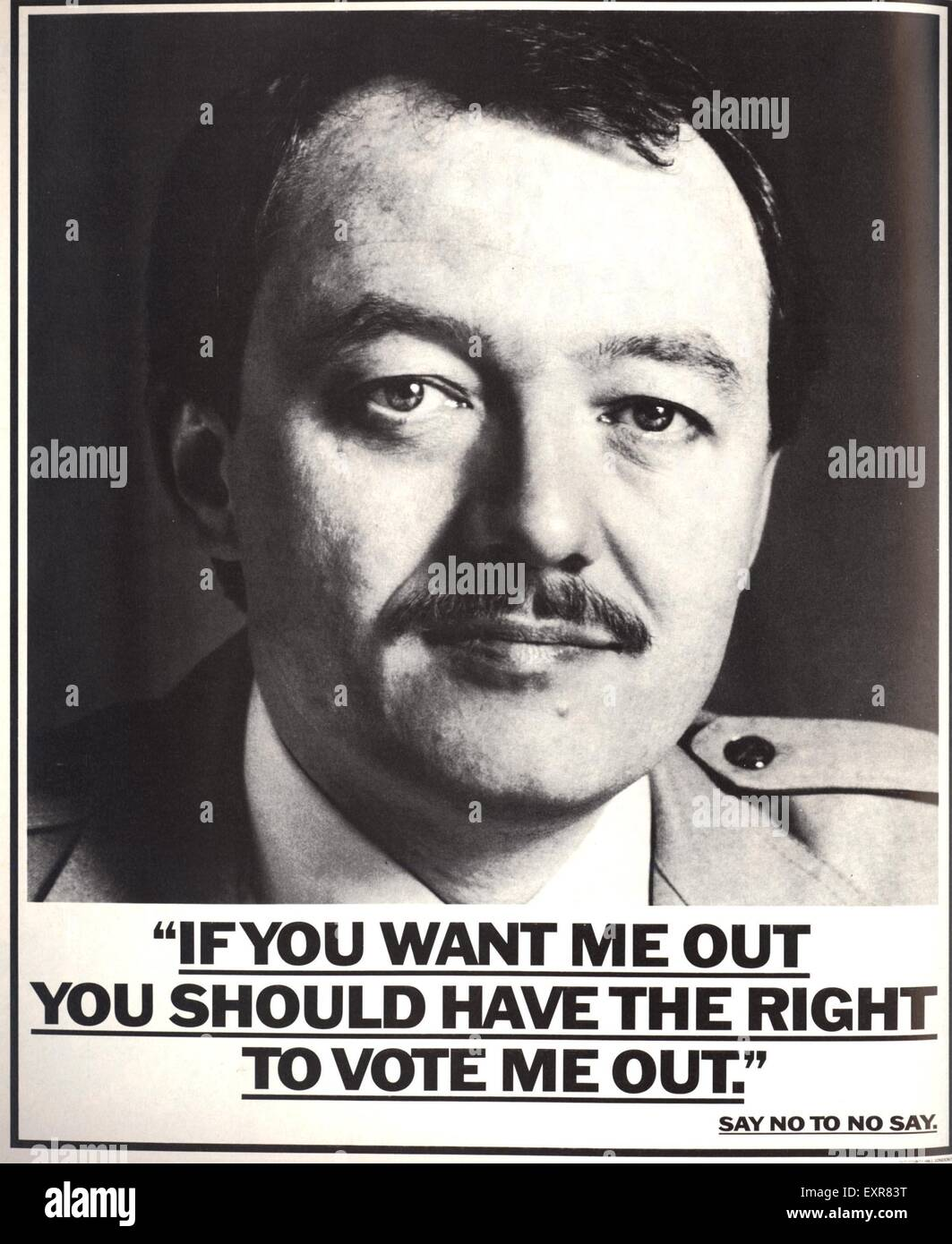 1980s UK GLC Magazine Advert - Stock Image