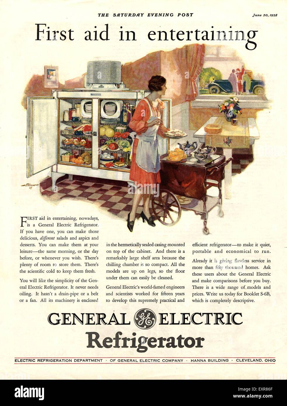 appliances 1920s stock photos appliances 1920s stock images alamy Running a 100 Amp Panel Form a House 200 Amp Panel 1920s usa general electric magazine advert stock image