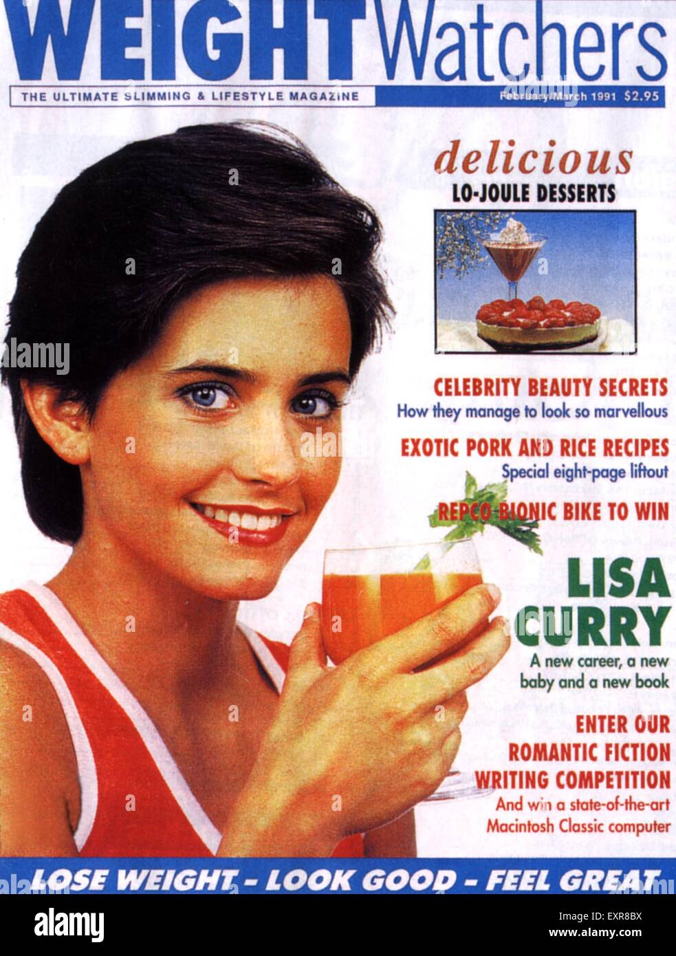 1990s UK Weight Watchers Magazine Cover - Stock Image