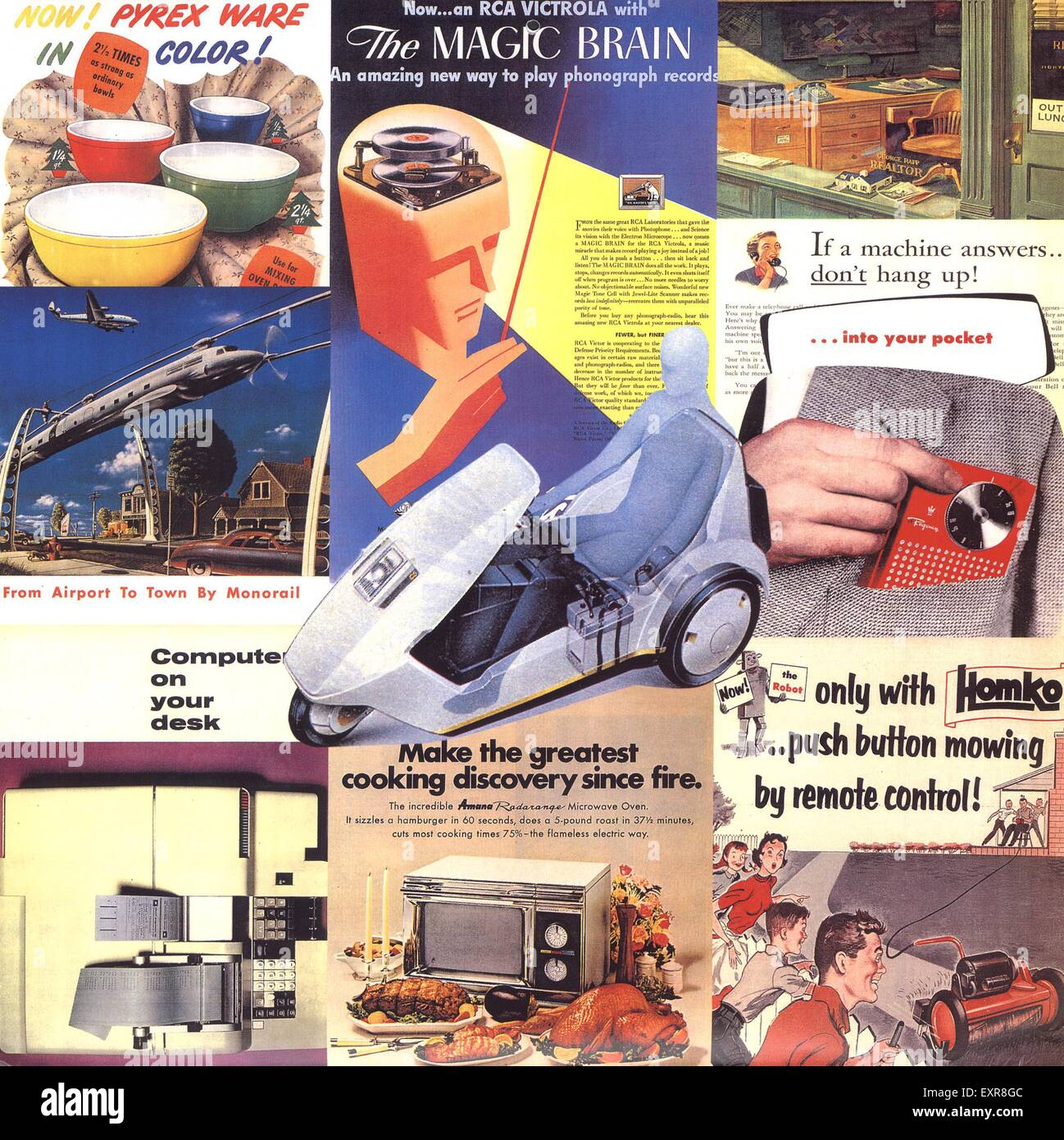 1990s UK Advertising Archives Montage Page Catalogue/ Brochure Plate - Stock Image