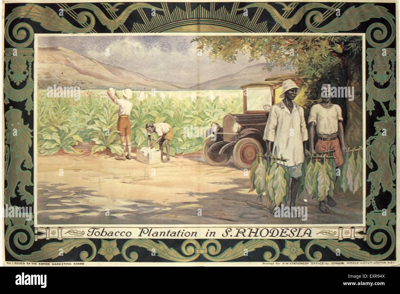 1920s UK Empire Marketing Board Poster - Stock Image