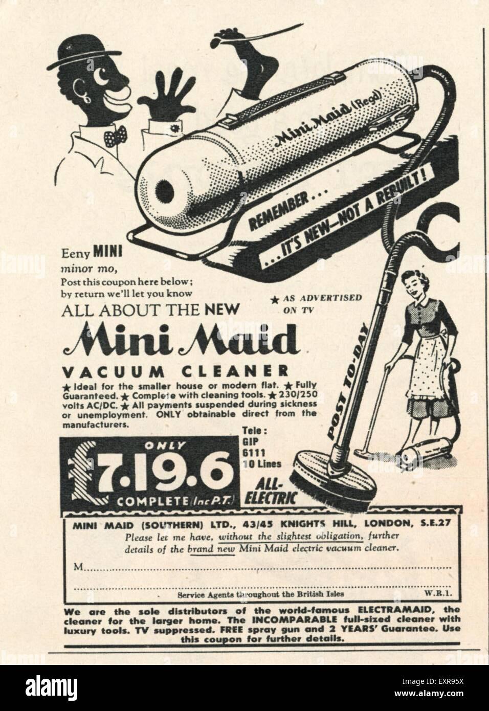 1950s UK Hoover Magazine Advert Stock Photo - Alamy