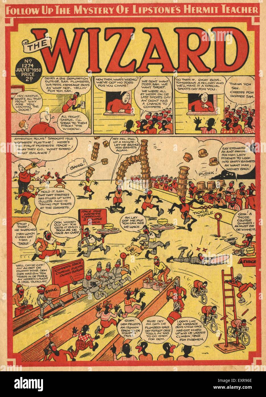 1940s UK The Wizard Comic/ Annual Cover - Stock Image
