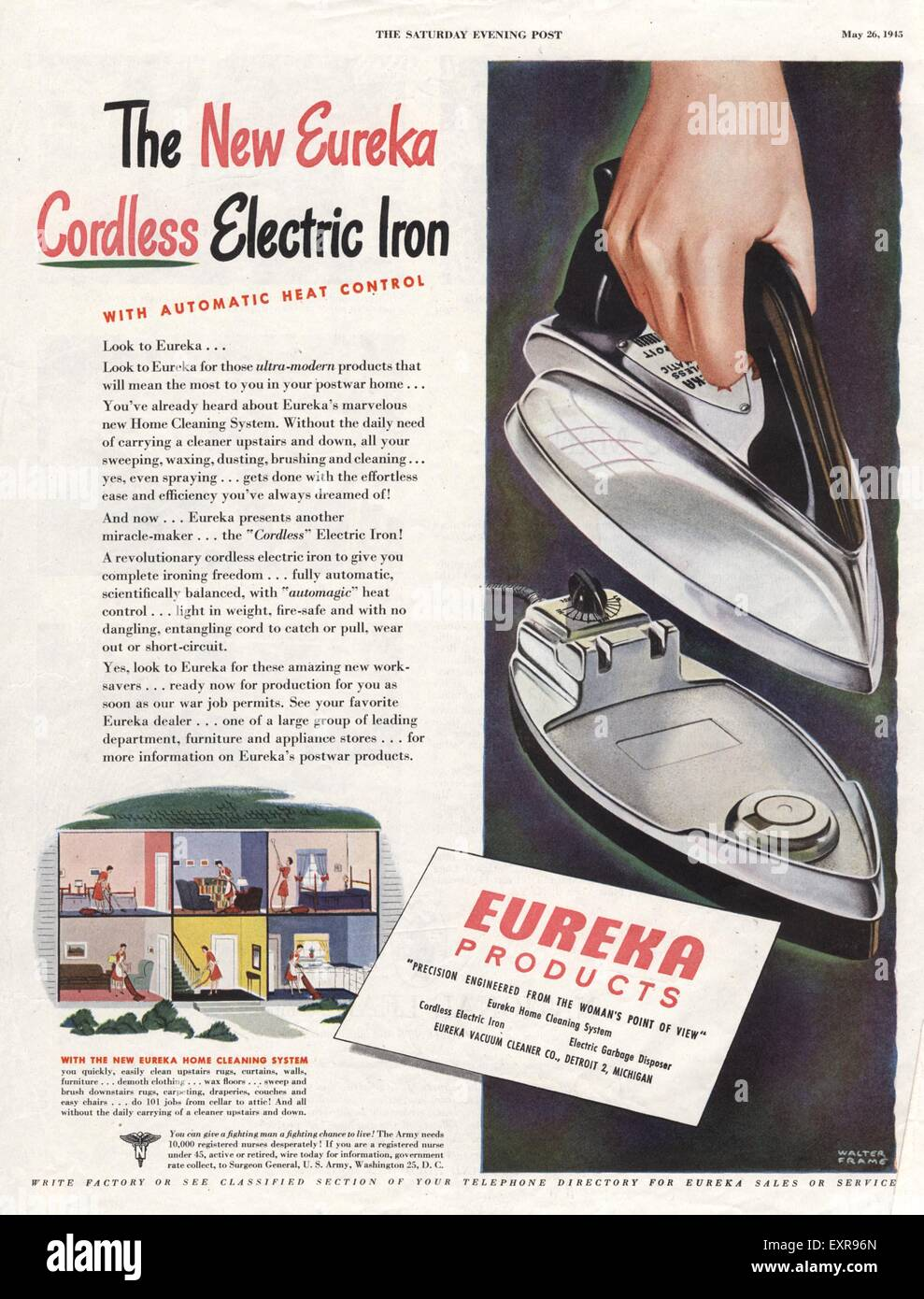1940s USA Eureka Magazine Advert - Stock Image