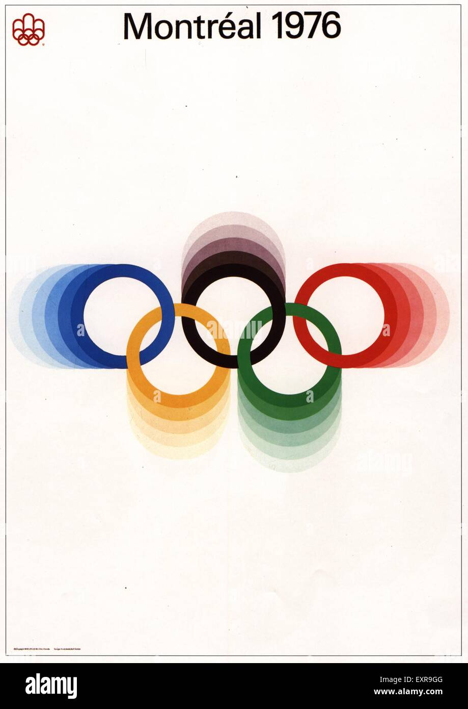 1970s Canada Olympic Games Poster - Stock Image