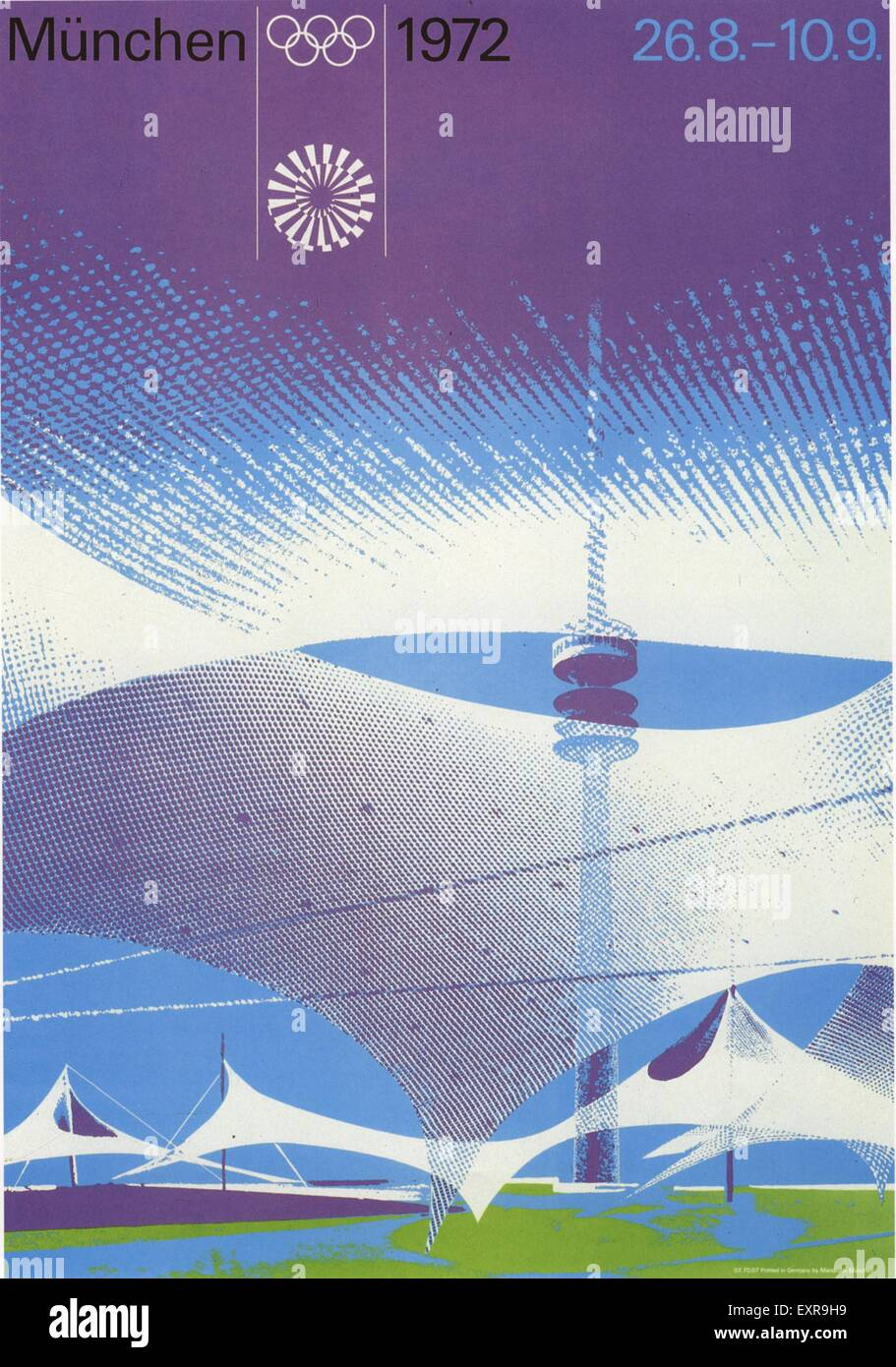 1970s Germany Olympic Games Poster - Stock Image