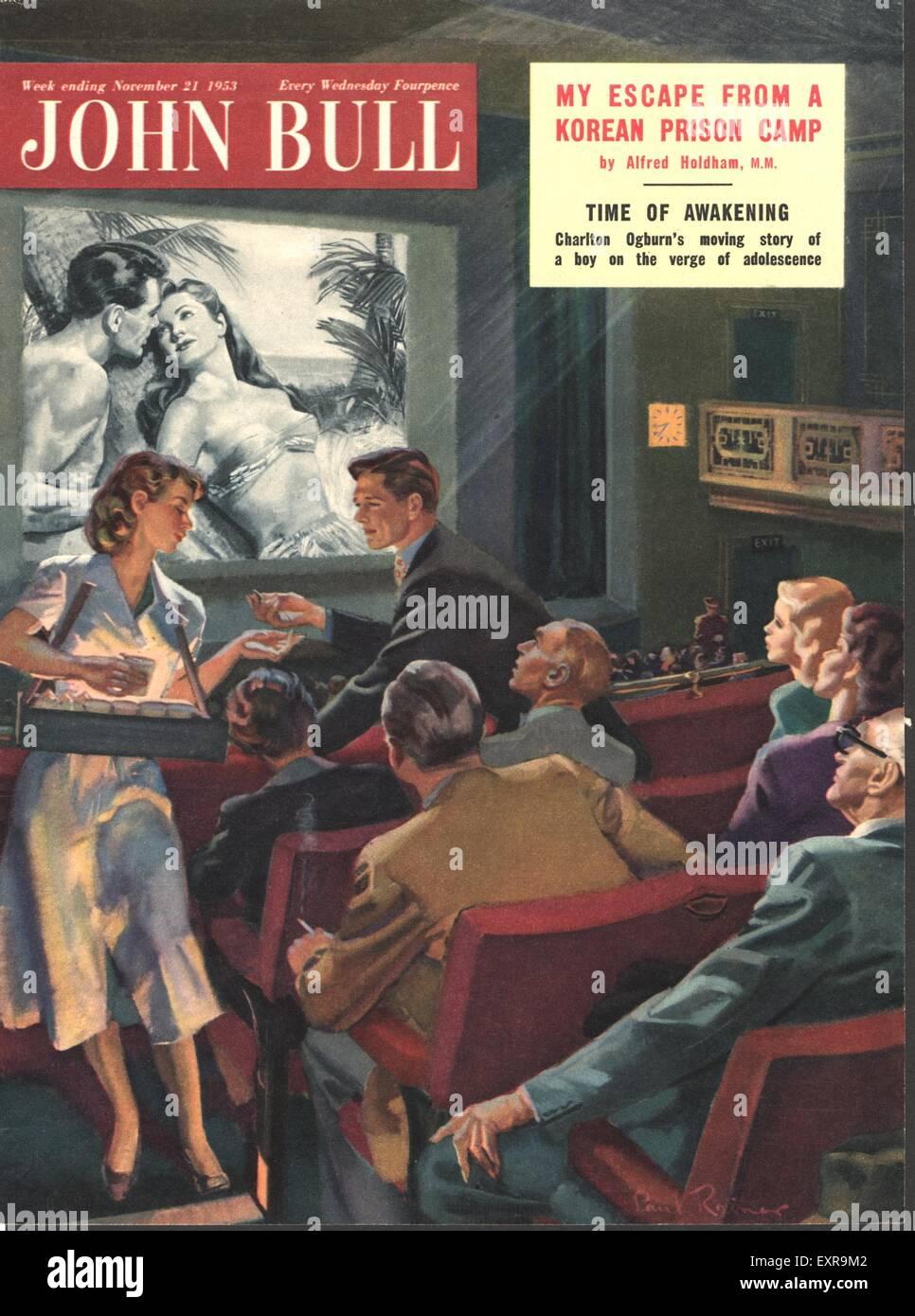 1950s UK John Bull Magazine Cover - Stock Image