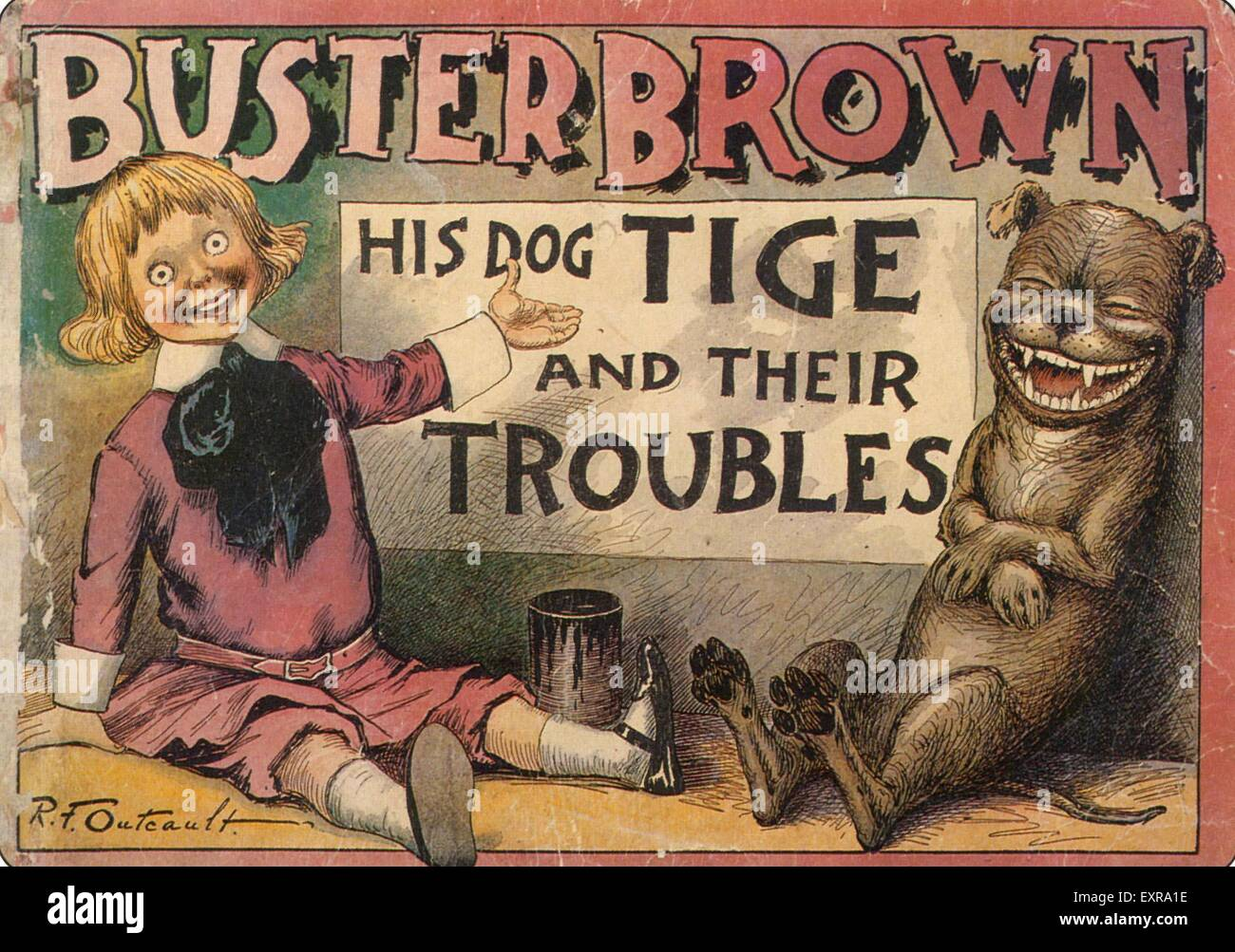 1890s USA Buster Brown Magazine Advert - Stock Image