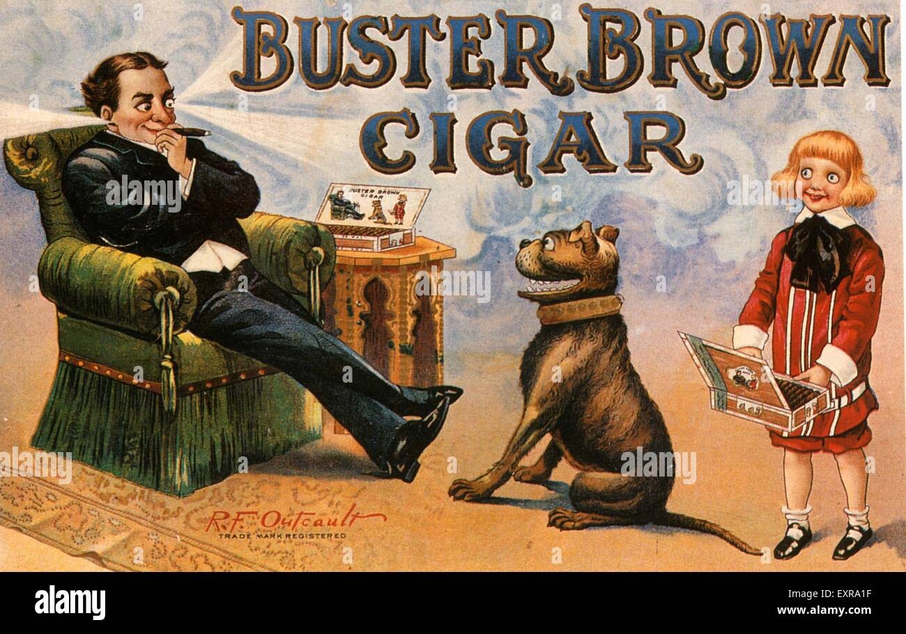 1900s USA Buster Brown Magazine Advert - Stock Image