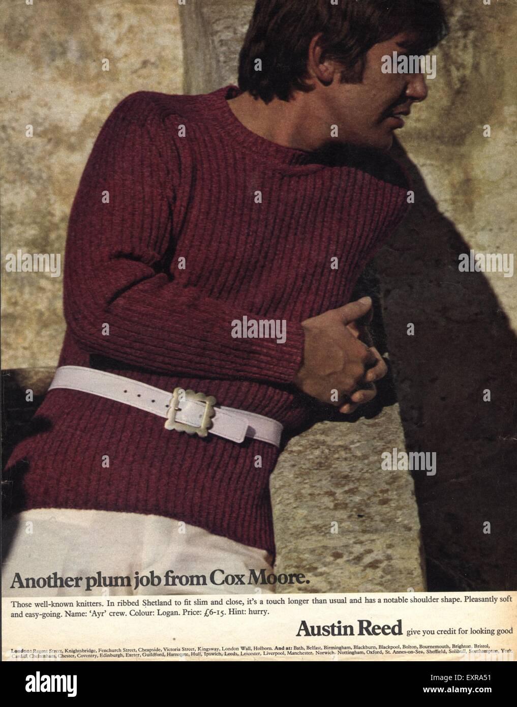 1970s Uk Austin Reed Magazine Advert Stock Photo Alamy