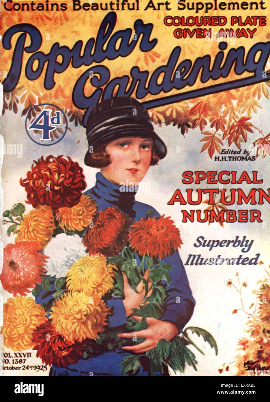 1920s Uk Popular Gardening Magazine Cover Stock Photo 85335586